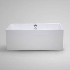 Aifol  67'' Rectangular Freestanding Bathtub Acrylic Soaking SPA Tub, White