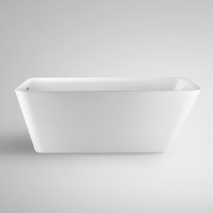 "Aifol 67"" Rectangular Freestanding Acrylic Tub Soaking SPA Tub with Contemporary Design for Home, White"