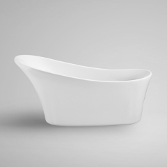 "Aifol 63"" Free Standing Bathtub Tulip Acrylic Soaking SPA Tub, Modern Bath Tub Right Drain Included, White"