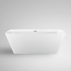 "Aifol 67"" Inches Luxury Freestanding Bathtub Acrylic Soaking SPA Tub – Modern Stand Alone Bathtub with Contemporary Design, White"