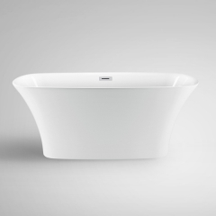 Aifol 59'' Luxury Freestanding Bath tub Acrylic Soaking SPA Tub – Modern Bathtubs with Contemporary Design, 53 Gallon Bathtub, White