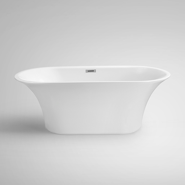 Aifol 67'' Luxury Freestanding Bathtub Acrylic Soaking SPA Tub – Modern Bathtubs with Contemporary Design, White