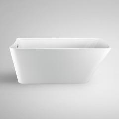 "Aifol 67"" Inches Luxury Freestanding Bathtub Acrylic Soaking SPA Tub – Modern Bath tub with Contemporary Design, White"