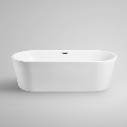 Aifol 5.5 Feet Freestanding Bathtub Acrylic Soaking SPA Tub – Modern Bathtubs with Contemporary Design, White