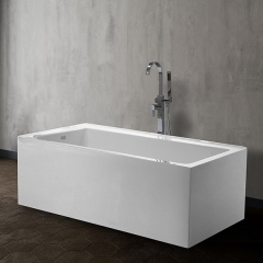 Aifol 59 Inch Small Square Adult Soak Acrylic Bathtub