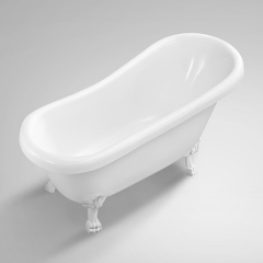 Aifol 59 Inch small Shoe Deep Acrylic Clawfoot Bathtub Vintage