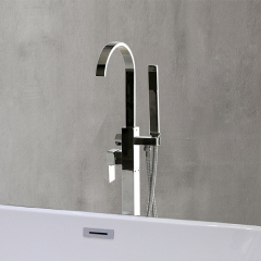 Aifol 2-Handle Freestanding Bathtub Faucet, Polished Chrome