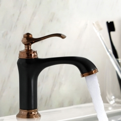 Aifol Single Handle Antique Bronze Bathroom Sink One Hole Faucet Lavatory Faucets Deck Mount