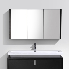 "Aifol 40"" 3 Door Bathroom Wall Mounted Vanity Cabinet Makeup Mirror"