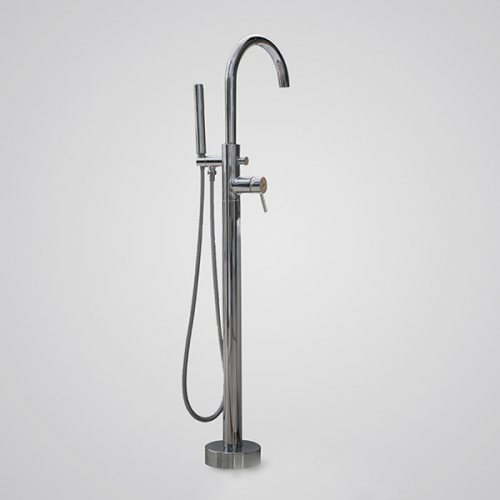 Aifol Luxury Bathroom Free-standing Bathtub Faucet Tub Filler with Hand Shower Polished