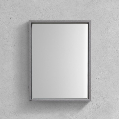 Aifol 22 Inch Small Modern Wall Cosmetic Framed Bathroom Mirror