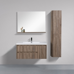 "Aifol  Top Selling Wall Hung Single Sink MDF 42"" cabinet vanity"