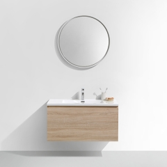 "Aifol Modern Wall Mounted Double Sink MDF 36"" Bathroom Vanity Cabinet with Drawers"