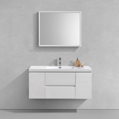 "Aifol  Classic Wall Mount White Bathroom Single Sink Home/Hotel 60"" Cabinet Vanity Set"