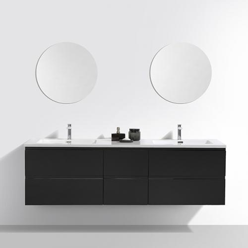 Aifol Black Modern European Style, Black Bathroom Vanity Cabinet
