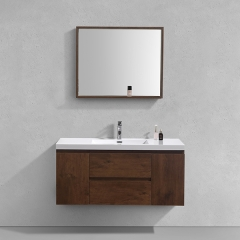 "Aifol  Chinese Rosewood Wall Mount Washroom 48"" Vanity Cabinet"
