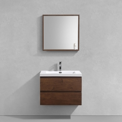 Aifol 36 inch Contemporary Wall Hanging Hotel Lavabo Cabinet Bath Vanity