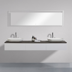 "Aifol New Design Mirror Board Modern Bathroom Wash Basin 72"" Cabinet"