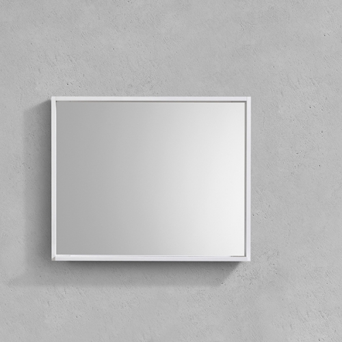 Aifol 33 Inch Modern Bathroom Wall Decorative Framed Mirror