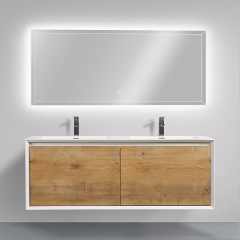 "Aifol Wall Hung Solid Wood Hotel 60"" Bathroom Cabinet Combination Vanity"