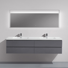 Aifol Modern 84-inch Wall Mounted Double Sink Storage Hotel Bathroom Vanity Cabinet