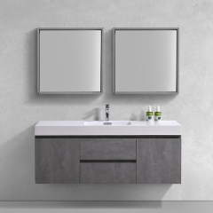 "Aifol  Classic Wall Hung Bathroom Single Sink 60"" Cabinet Vanity Set"