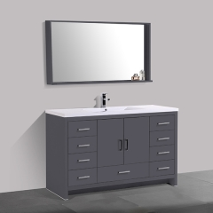Aifol Luxury 61 Inch Contemporary Double Wash Basin Bathroom Cabinet Stand