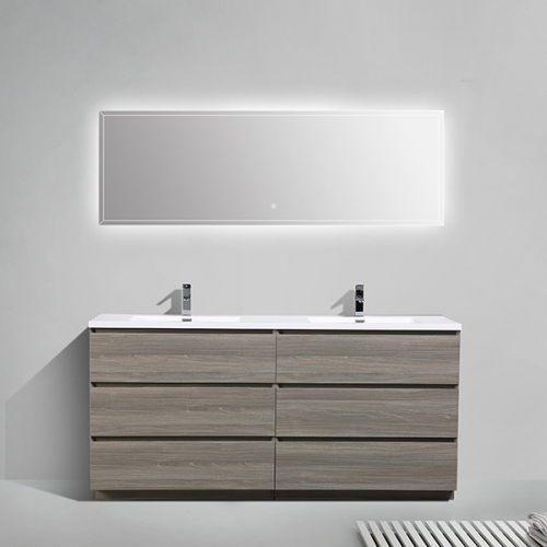Aifol 72-inch Modern lacquer Wall Vanity American Style Bathroom Furniture
