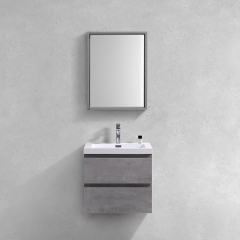 Aifol Contemporary Wall Hanging Melamine Bathroom Vanity 24 Inch
