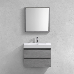 Aifol 30'' Suki  Bathroom Cabinets 2 Drawers, Single Sink Bathroom Vanity Wall Mount, Grey