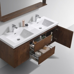 Aifol  Classic Rosewood Wall Mount Bathroom Single Sink Hotel 60