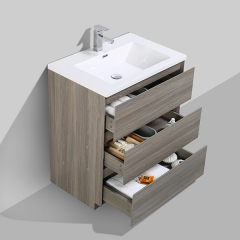 Aifol 30 inch Commercial MDF Melamine Floor Bathroom Sink and Cabinet Combo