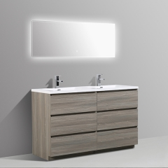 Aifol Luxury Double Sink Soft closing Hotel Bathroom Vanity 60 inch