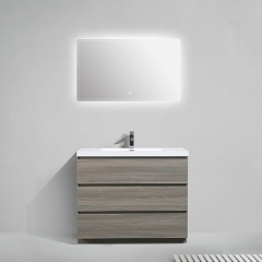Aifol 42 inch Luxury Floor Single Sink Basin Vanity Bathroom Cabinet