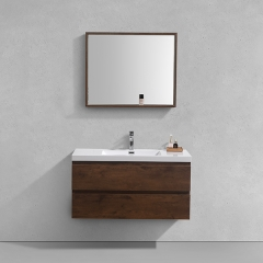 Aifol 42 Inch Luxury Wall Mount Hotel Melamine contemporary bathroom vanity