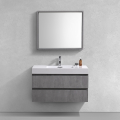 Aifol Hot Sale 40 inch Single Sink Wall Mounted Bath Vanity