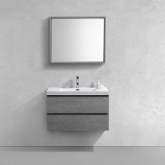 Aifol 36 Inch Wall Hanging Melamine Contemporary Bathroom Vanity