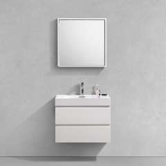 Aifol 30'' Suki Bathroom Cabinets , Single Sink Bathroom Vanity 2 Drawers, White