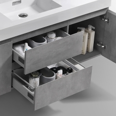 Aifol  Classic Wall Hung Bathroom Single Sink 60
