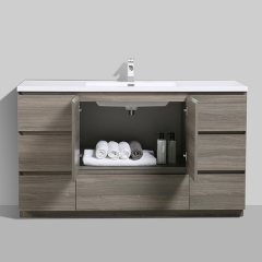 Aifol 61 inch American Style Floor DTC Melamine Bathroom Furniture
