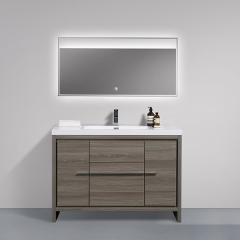 Aifol 48 inch Luxury Floor Soft Closing Melamine Bathroom Furniture