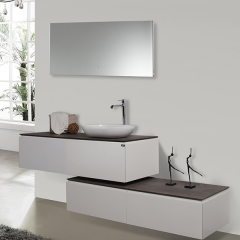 Aifol  New Design 60-inch MDF Single Sink Wall Mounted Bathroom Vanity