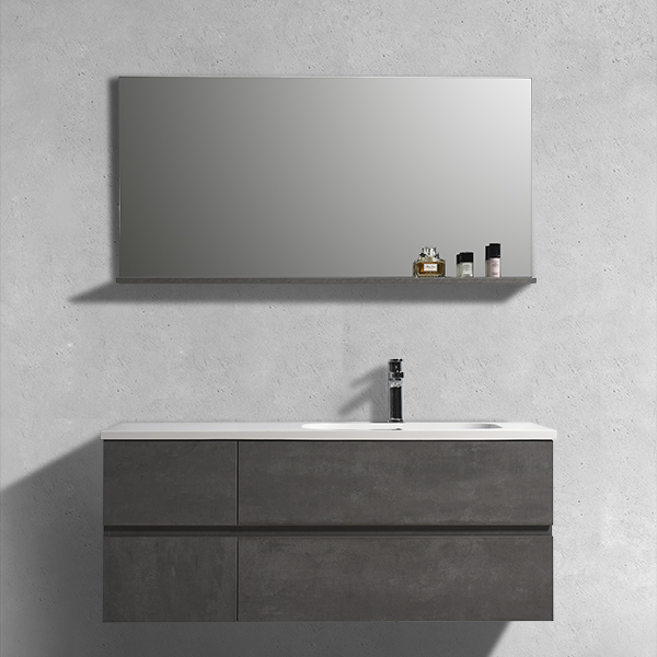 Aifol 48-Inches Contemporary Wall Hanging Melamine Basin Bathroom Cabinets