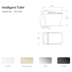 Aifol Water Saving Intelligent P-trap Ceramic Smart Floor Mounted Toilet
