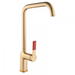 Aifol Golden Handle Brass Faucet Kitchen Tap
