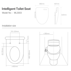 Aifol Auto Close High End Automatic Smart Toilet Seat